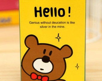 Hello Bear Sticky Note Book SN1102HB