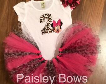 Customized Minnie 2nd birthday tutu set