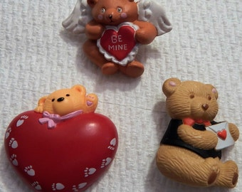 Teddy Bear Valentine's Day Pins