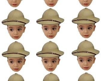 DIY digital Photo cupcake toppers safari themed