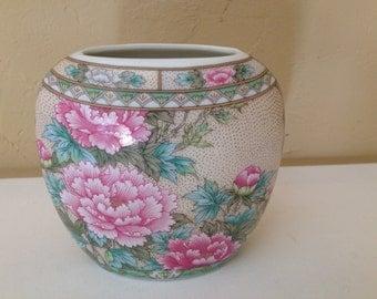"Vintage Lefton  Asian style Vase 4 1/2"" tall- 07064  c1989 Foil Sticker-mint"