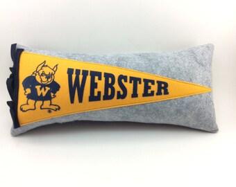University of Webster Gorloks Pennant Pillow