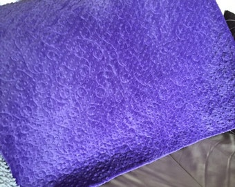 A throw/quilt in double minky , Machine quilted by me. An heirloom quality quilt!!!