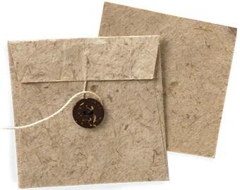 20 Pcs Envelope & Card Recycled Kraft (Natural or Creme)