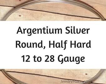 20% OFF Argentium Silver Wire, Round, Half Hard, 12 14 16 18 19 20 21 22 24 26 28 Gauge, Jewelry Making Wire
