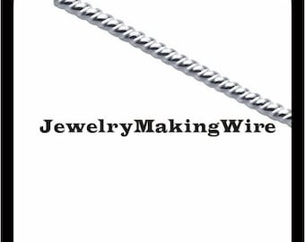 15% OFF Sterling Silver Twisted Wire, Round Pattern Wire, Dead Soft, 6 Gauge, 8 Gauge, 10 Gauge, 12 Gauge, 14 Gauge, 16 Gauge, 18 Gauge, 20