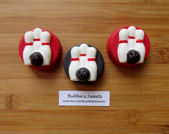 BOWLING Chocolate Covered Oreos - (12) Bowling Birthday/Sports Favors