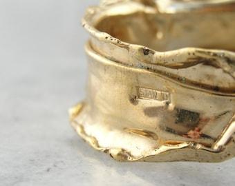 Fantastic Forms, Vintage Vermeil Cuff Bracelet HAKKFW-N