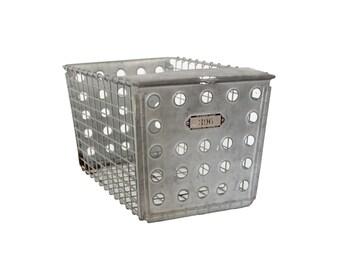 Vintage Metal Wire Locker Basket Number 396