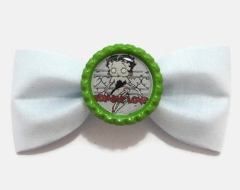 zombie betty boop hair bow - rockabilly pinup psychobilly hair accessory