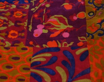 Vintage 1970's Floral Fabric