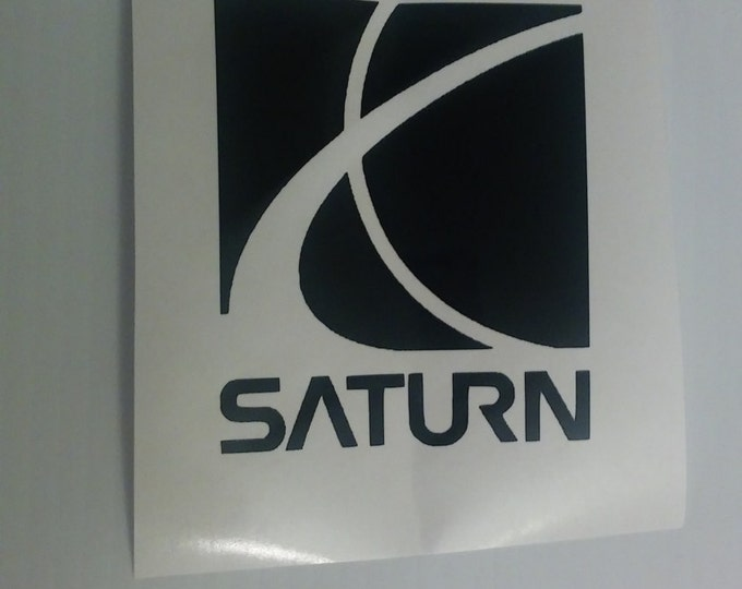 FLASH SALE! BLACK Saturn Car Logo Vinyl Decal