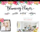 Blooming Flower Blogger Template