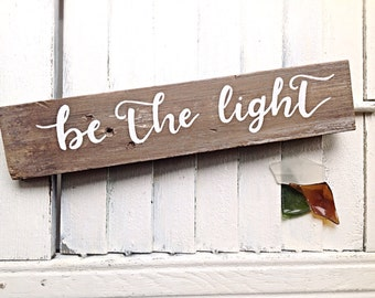 Inspirational Wall Art-Be the light-Motivational wall decor