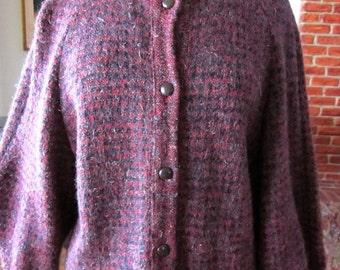 Love Sale 25% off OGNIBENE ZENDMAN Sweater Jacket Cardigan // Elizabeth Arden Salon // fits L // Made in Italy