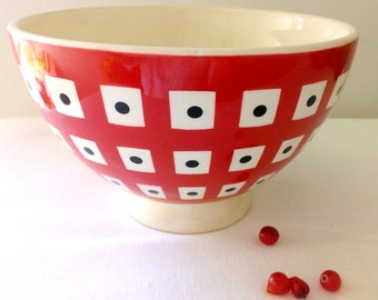 1960s decorative patterned bowl