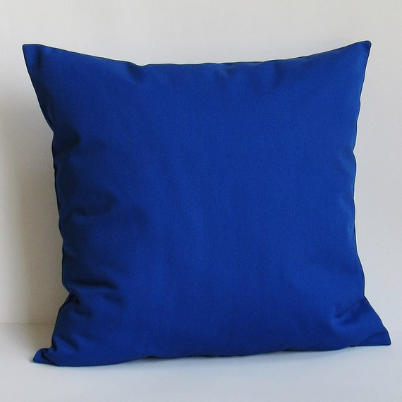 Royal blue cobalt pillow cover decorative throw accent sofa for Royal blue couch pillows