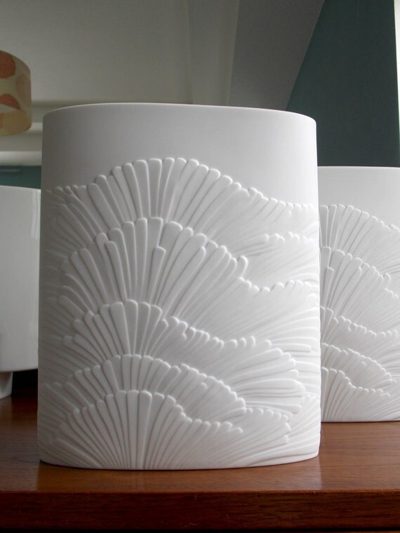 Rosenthal Vase Large White Matte Vase Porcelain Vase Modern
