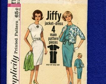 1960's Simplicity 4429 Rockabilly Shift Dress Size 10