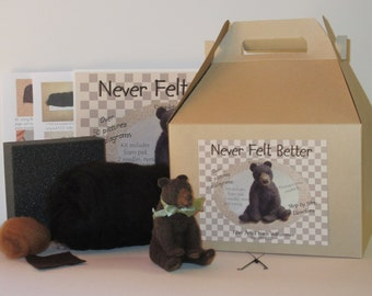 Bear Needle Felting Kit