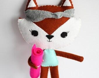 Yoga Fox Girl Doll Pilates Gift