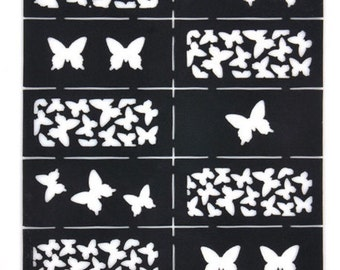 Butterfly Nail vinyl decals pattern   FREE SHIPPING