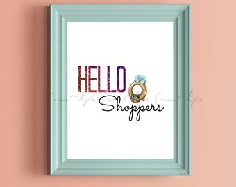 Shopkins Hello Shoppers PRINTABLE Digital Instant Download Wall Art