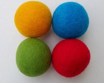 Felted Wool Dryer Balls - Carnival - handmade in Manitoba, Canada
