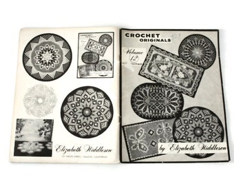 Doily Patterns, Thread Crochet, Crochet Pattern Book, Home Decor Crochet, Originals Doily Pattern Book by Elizabeth Hiddleson, 60s Crochet