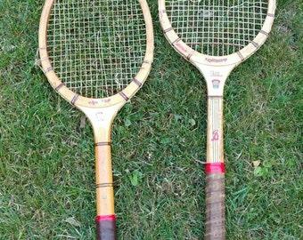 Pair of Vintage Bancroft Tennis Racquets 1940's