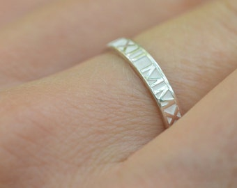 Sterling silver,Roman Numeral Ring, Wedding Date Ring,Personalized ring,Wedding Band,Custom wedding band,Valentines Day,Christmas Gift