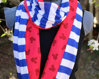 NEW! LIMITED QUANTITIES! Disney Cruise Mickey Mouse Infinity Scarf