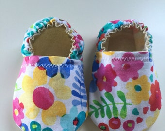 Baby Bootie Floral Print