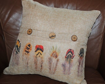 "Gamebird Feathers Pillow Cover, 16"" FREE SHIPPING"