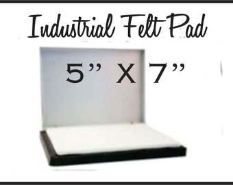 """Large Stamp Pad 5"""" X 7"""" inches for larger custom rubber stamps. For stamping boxes paper and larger areas. Sold DRY. Ink sold separately."""