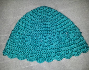 Teal Crocheted Beanie