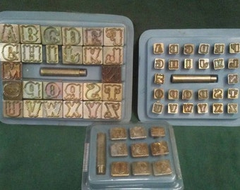 Leather Stamp Alphabet and Number Set