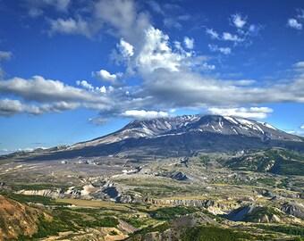 Mount Saint Helens Photo, Landscape Photo, Nature Image, Volcano Photo,
