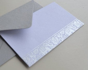 Silver Elephants Mini Cards - 12 Pack