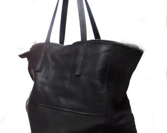 Big Bag in black leather