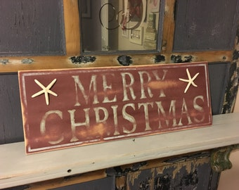 Wooden Merry Christmas Sign//Clearance//Distressed Christmas Sign//Wooden Christmas Sign//Christmas Decor//READY TO SHIP