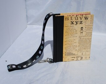 Blank book with strap