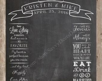 Wedding Photo Backdrop Chalkboard Printable - Photo Backdrop Banner - Photobooth Backdrop - Wedding Photo Backdrop - DIY Printable