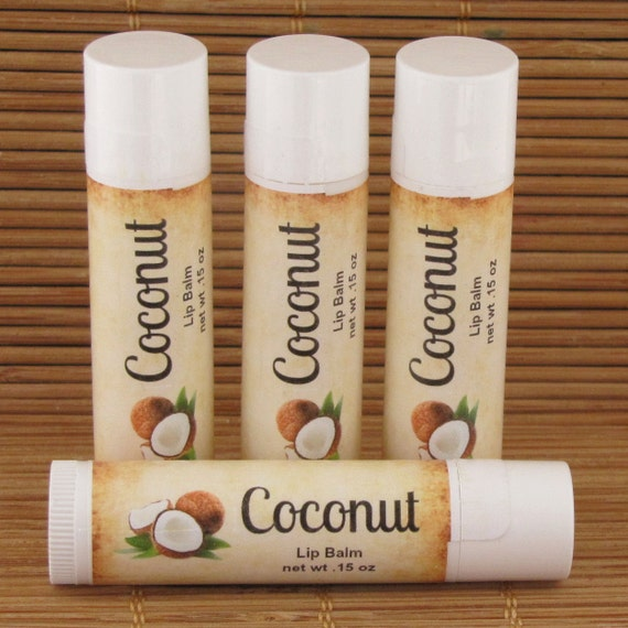 how to make coconut flavored lip balm