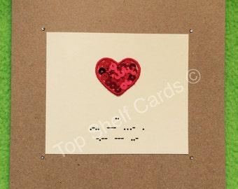 Unique Morse Code Valentines Card - I Love You. Fun, Unusual, Personal.