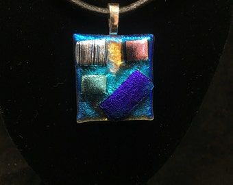 Dichoric Fused Glass Necklace