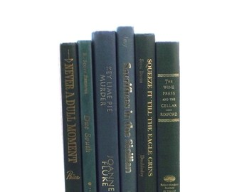 Green decorative books sage green book by thevintagedecorator - Decorative books for shelves ...