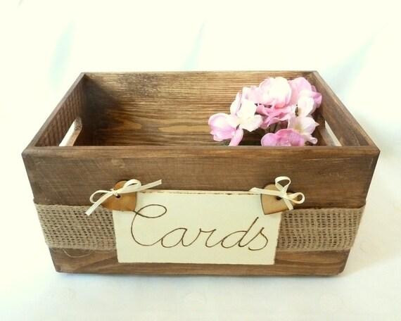 Card Gift Box Wedding: Wedding Card Box Rustic Wooden Card Box Rustic By