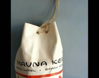 Vintage Mauna Kea beach hotel drawstring tote.