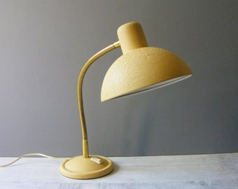 Vintage French Yellow Mid Century DESK LAMP/Table Lamp/1950s.